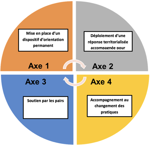 Axes de la pair aidance