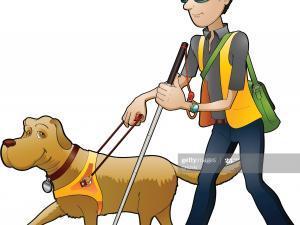 chien aveugle illustration